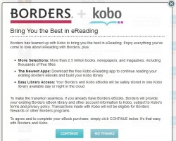 Borders are out of the ebook business eBookstore