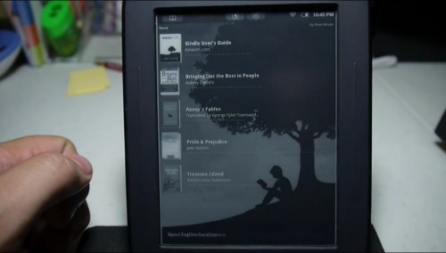 Hacked Nook Touch now runs the Kindle app (video) e-Reading Hardware
