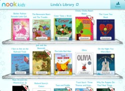 Nook Kids updated - ebookstore link gone Apple eBookstore