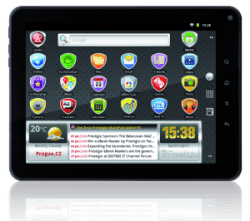 "Prestigio launched a new 8"" Gingerbread tablet e-Reading Hardware"