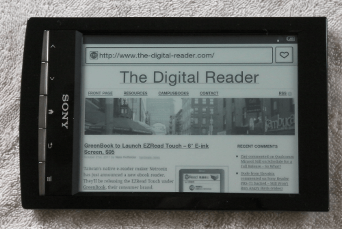 Sony Has Sold Half a Million Sony Reader Wifi in Europe e-Reading Hardware