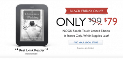 Confirmed: B&N to Sell Limited Edition Nook Touch on Friday Rumors
