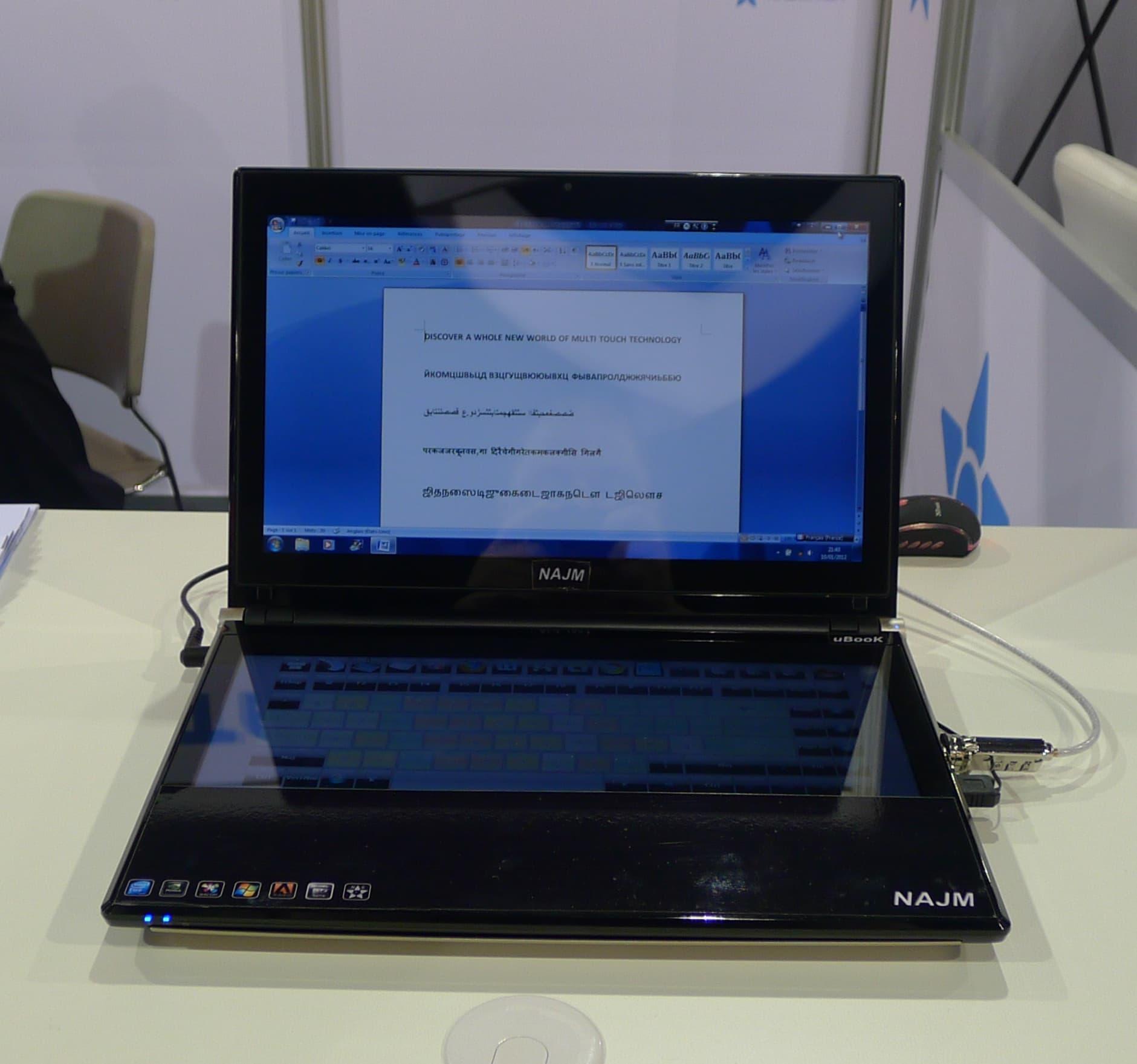 NajmTek Ubook Dual Screen Laptop Coming this Fall | The
