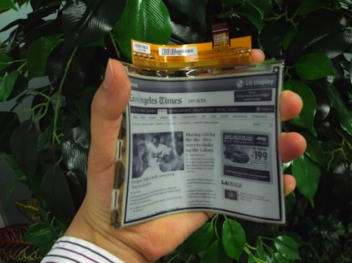 LG Display to Launch New Flexible Hi-Res E-ink Screen e-Reading Hardware