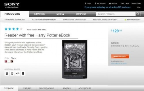 Sony Launches New Sony Reader Sale (Free Harry Potter eBook) e-Reading Hardware