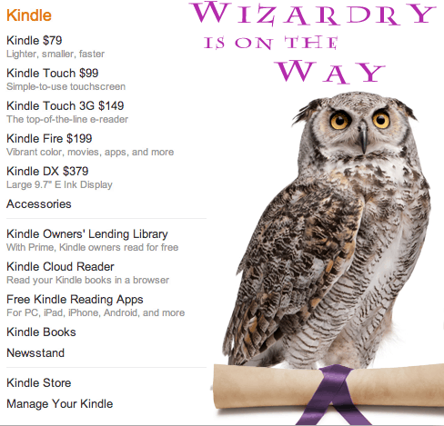 Is Amazon Planning a Kindle Related Harry Potter Tie-In? eBookstore