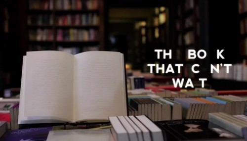 The Book That Can't Wait (video) Books as Art