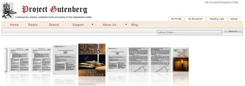 Project Gutenberg Launches Self-Pub Portal eBookstore