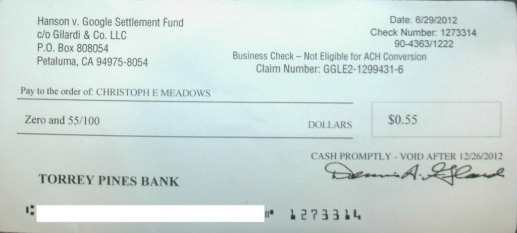 how to write a check with zero cents