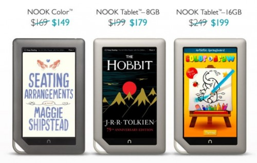 Nook Tablet, Nook Color Get a Price Cut e-Reading Hardware