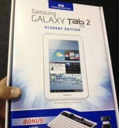 Samsung Galaxy Tab 2 7.0 Student Edition to Come With Bundled Keyboard and USB Adapter e-Reading Hardware