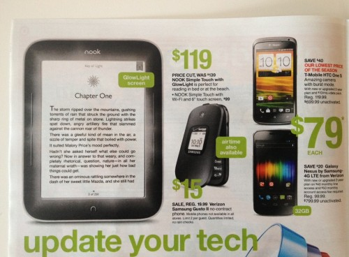 Updated: Nook Glow Now on Sale for $120 e-Reading Hardware