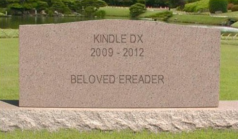 Say Goodnight, Gracie - The Kindle DX is Out of Stock at Amazon e-Reading Hardware