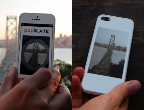 """PopSlate Launches iPhone Case with 4"""" E-ink Screen (video) e-Reading Hardware"""