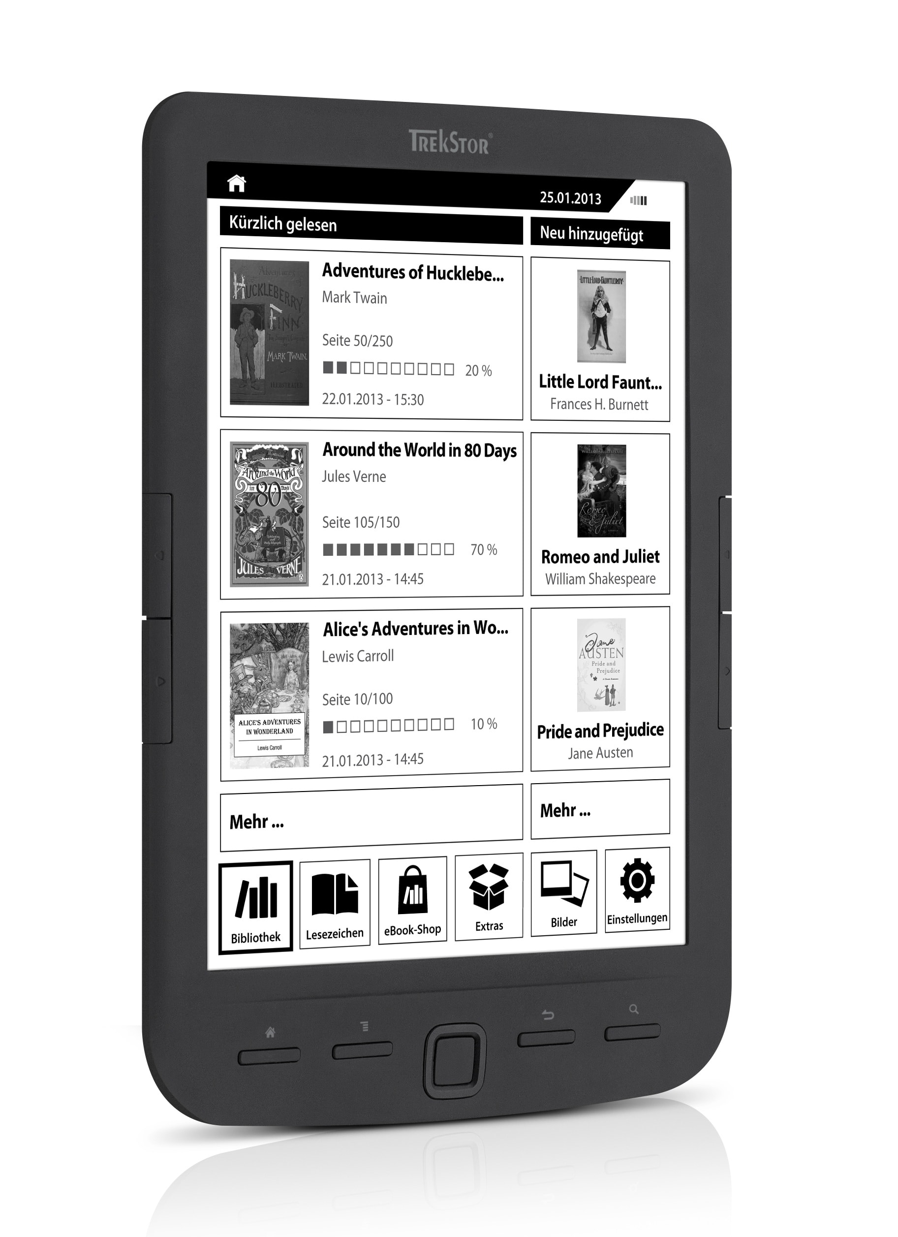 Trekstor Launches The Pyrus Maxi 8 Ereader The Digital Reader