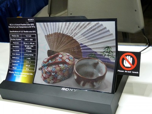 "Sony to Launch 13.3"" E-ink Writing Slate in Japan (Photos) e-Reading Hardware"