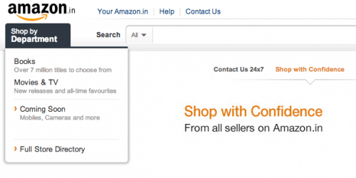 Amazon Launches in India - Only Sell Books and DVDs Amazon