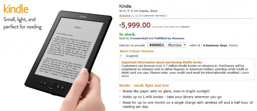 kindle basic india