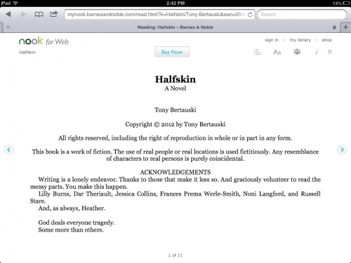 Nook for Web Updated - Now Kinda Works on the iPad (but not the iPhone) Barnes & Noble e-Reading Software eBookstore