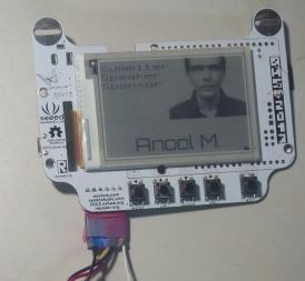 Going to the Open Hardware Summit? Don't Forget Your E-ink Conference Badge E-ink e-Reading Hardware Screen Tech