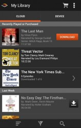 Audible for Android Updated Amazon Audiobook e-Reading Software