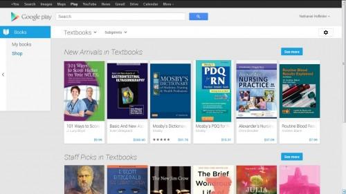 google play books textbooks