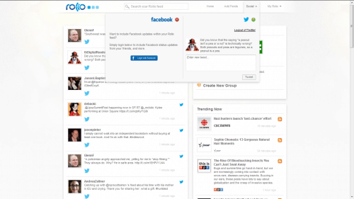 Rolio Combines Your Twitter, Facebook, and RSS Feeds Into a Single Stream of Updates Google Reader Alternatives
