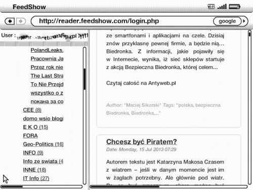 FeedShow Takes Your RSS Feeds Where They've Never Been Before - Your Kindle News Reader