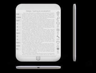 New eReader Concept Shows Off Edge to Edge Screen, Disappearing Menus e-Reading Hardware