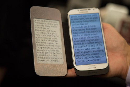 """Pocketbook Unveils New Smartphone Case With 4.8"""" Plastic Logic Screen e-Reading Hardware Screen Tech"""
