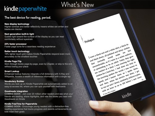 New Kindle Paperwhite Is Up for Pre-Order e-Reading Hardware