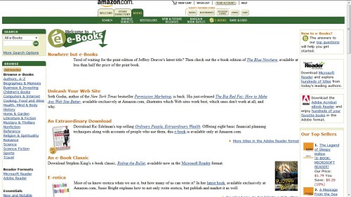 Amazon's First eBookstore Launched 13 Years Ago Today Blast from the Past