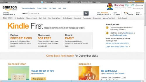 Kindle First Offers Amazon Customers Early Access to Amazon's eBooks Amazon eBookstore
