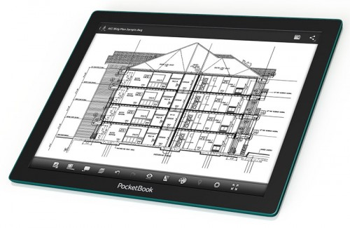 """Pocketbook CAD Reader Launches in Russia with a 13.3"""" E-ink Fina Screen e-Reading Hardware Screen Tech"""