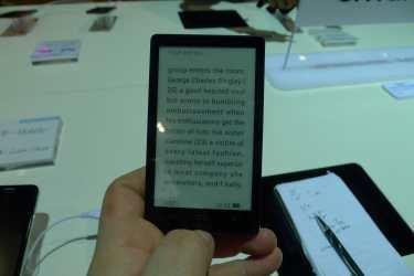 The Alcatel MagicFlip is Probably the Lightest eBook Reader I've Ever Handled E-ink e-Reading Hardware