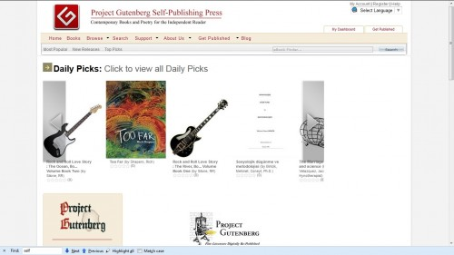 Project Gutenberg's Self-Pub Portal is Going Strong Self-Pub