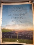 Apple Celebrates Earth Day with Full Page Advert in Newspapers Around the World Apple