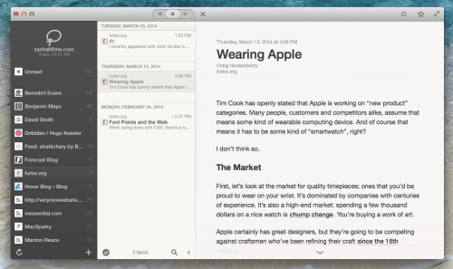 Feed Reader Reeder 2 for OSX Now in Public Beta News Reader