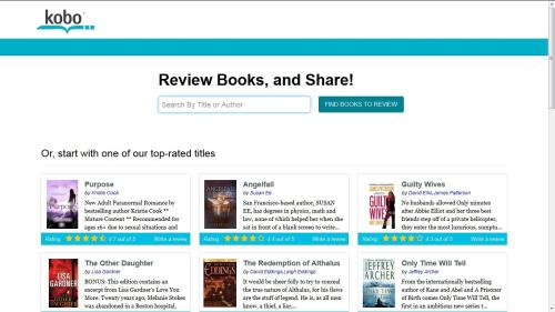 Kobo to Launch New Book Reviews Section Kobo