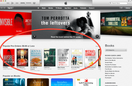 Apple is Now Discounting eBook Pre-Orders that Amazon Won't Sell You Amazon Apple Publishing