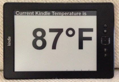 Hack Turns a Kindle into an Expensive Thermometer Amazon e-Reading Hardware Kindle