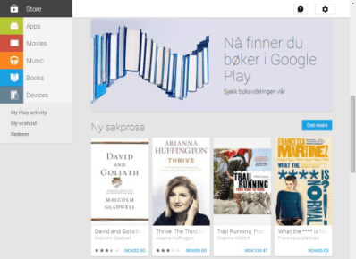 Is the Hiatus Ending? Google Play Books Launches in Norway Google Books