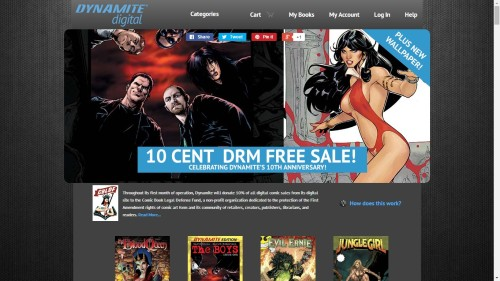 Dynamite Comics Launches DRM-Free Comics Store Comics & Digital Comics DRM