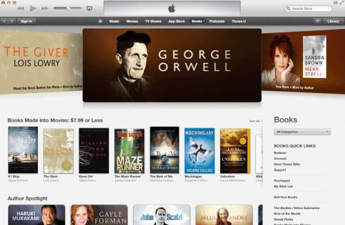 Apple Pokes at Amazon over Misquoting Orwell Apple iBooks