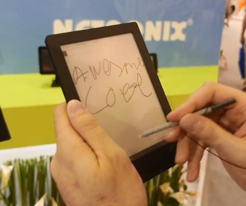 "Netronix Shows Off a 6.8"" eReader Prototype With Wacom, Android 4.1 (video) E-ink e-Reading Hardware"