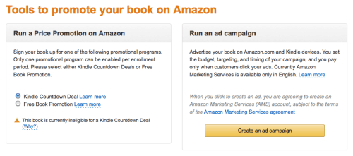 Amazon is Now Pitching Advertising to KDP Select Members Advertising Amazon Kindle (platform)