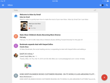inbox by google ipad