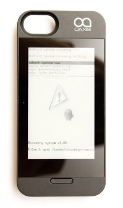 How Would You Like an E-ink iPhone Case Which Runs Android? e-Reading Hardware