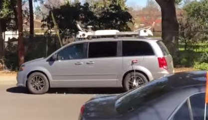 Another Camera-Equipped Minivan Has Been Spotted in Palo Alto Apple