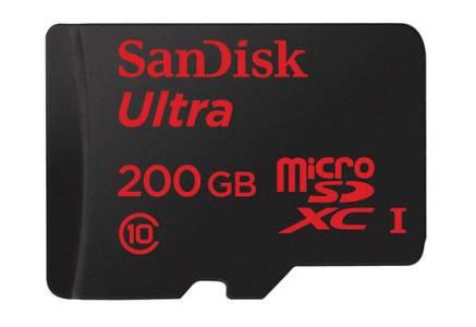 SanDisk Crams 200GB into a MicroSD Card e-Reading Hardware